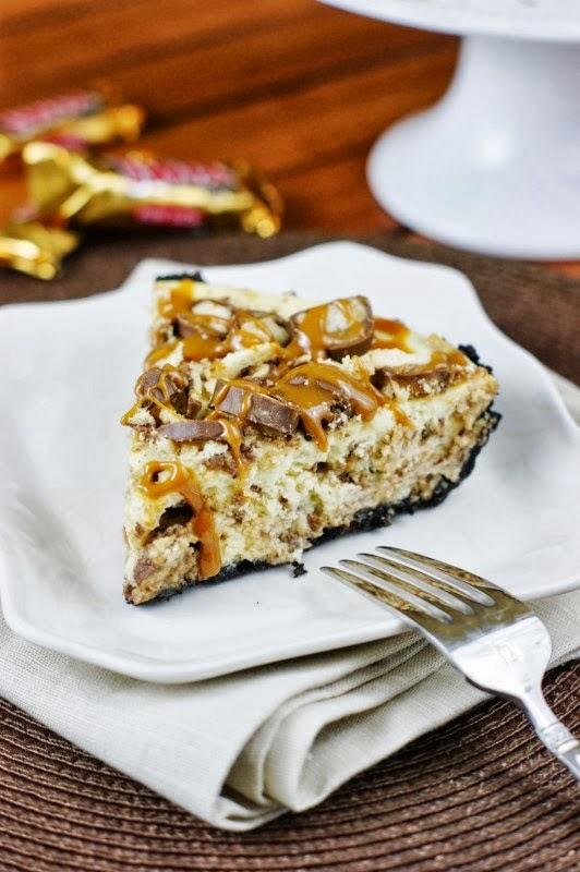 Twix Cheesecake Pie - The Kitchen is my Playground