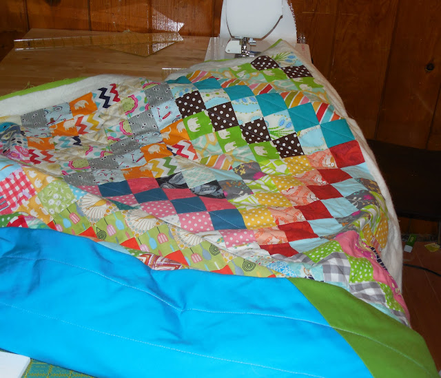 scrappy trip along quilting progress