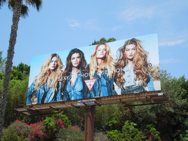 Sexy with question Guess Jeans billboard