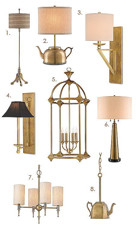 vintage brass lighting