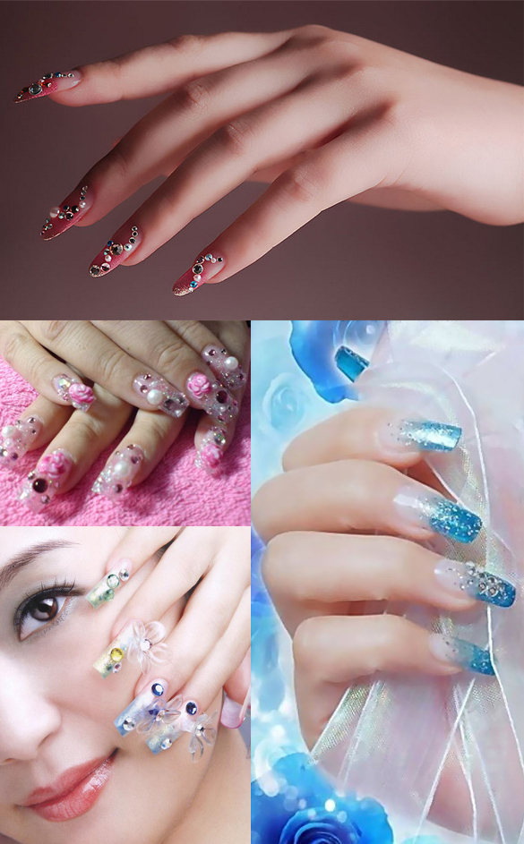 Nail fashion makeup clear flat rhinestone crystal for 3d nail art decoration
