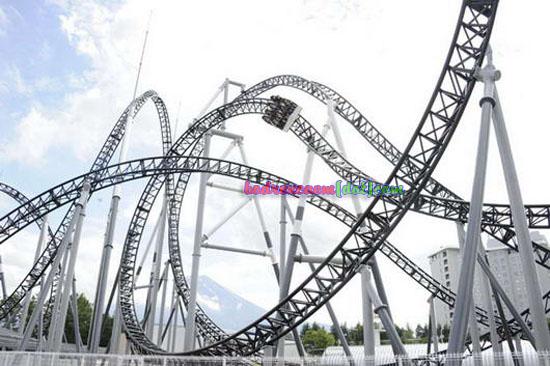 bukanklikunic.blogspot.com - Takabisha, Roller Coaster Paling Curam di Dunia