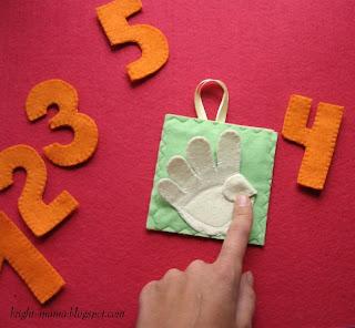 игрушка из фетра своими руками для изучения счета
