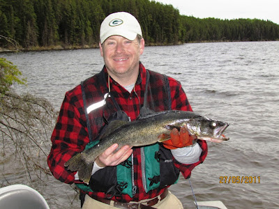 Walleye on Red Lake, Ontario
