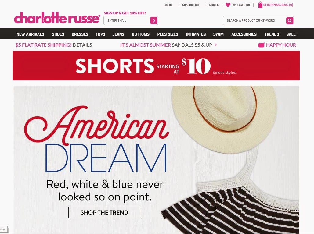 Charlotte russe coupons codes