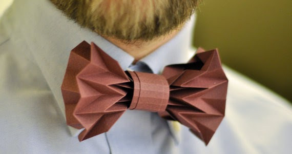 DIY folded paper bow tie