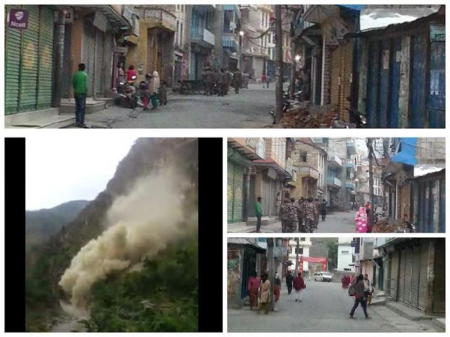 landslide in myagdi blocks kali gandaki river