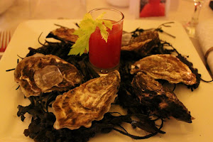 Oysters with Bloody Mary Salsa