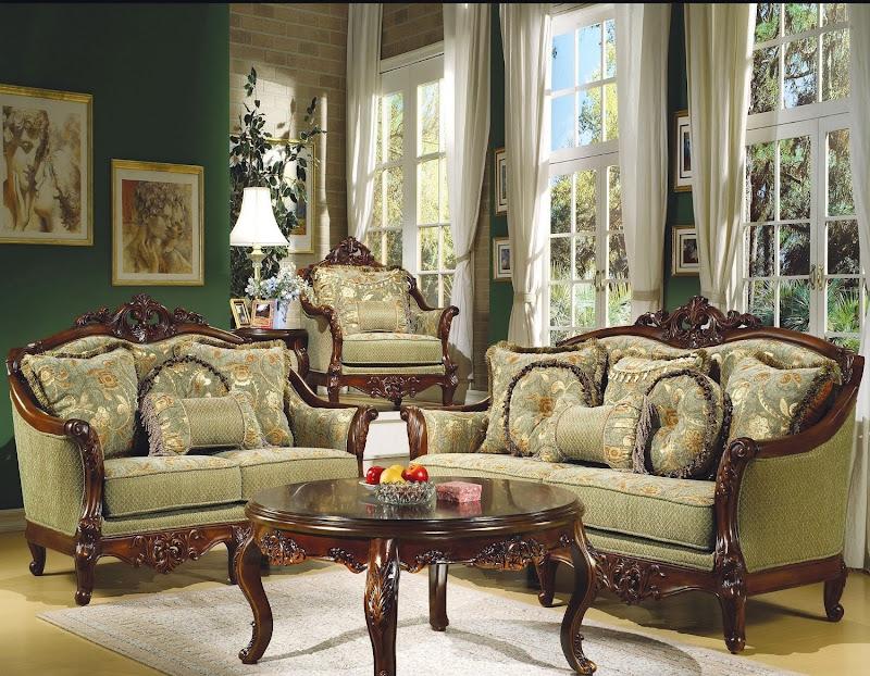 Victorian Living Room Furniture Set