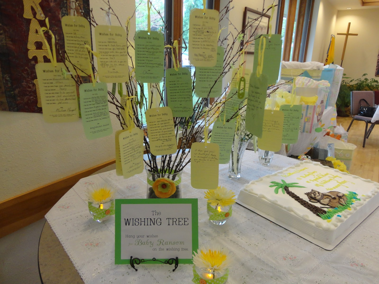 spirit crafts how to make your own wishing tree at the end of the shower i gave the mommy to be all of the cards she can put them in her baby book and when baby is big enough he she will get to