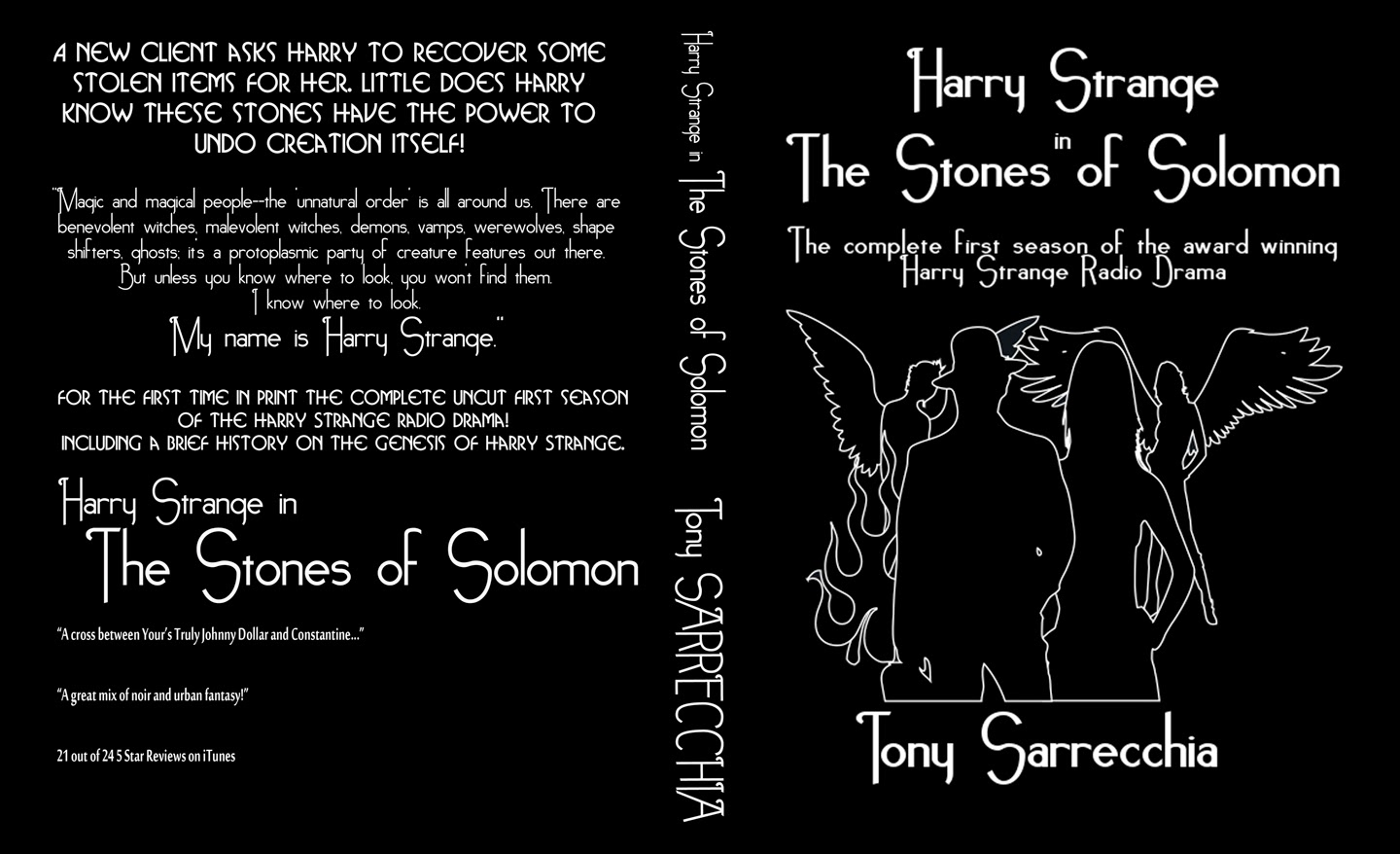 Cover for the novel (bound scripts) of Harry Strange in The Stones of Solomon