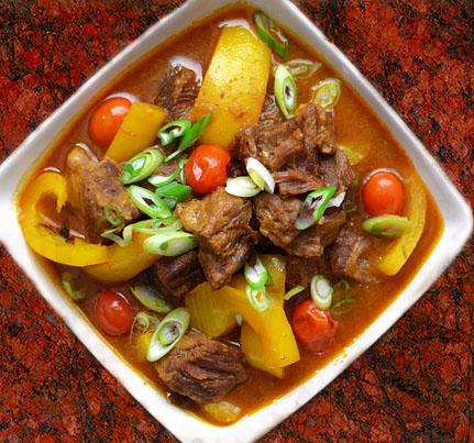 Carne con curry y coco: cocina gourmet