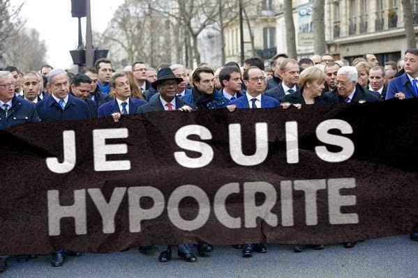 manifestacion, paris, lideres, politicos, europa, hipocresia, cartel