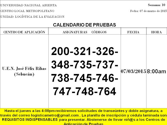 CENTRO DE PRESENTACIÓN EN CARACAS. SÁBADO 7 DE MARZO DE 2015