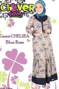 Clover Clothing Chelsea Rose - Blue (Toko Jilbab dan Busana Muslimah Terbaru)