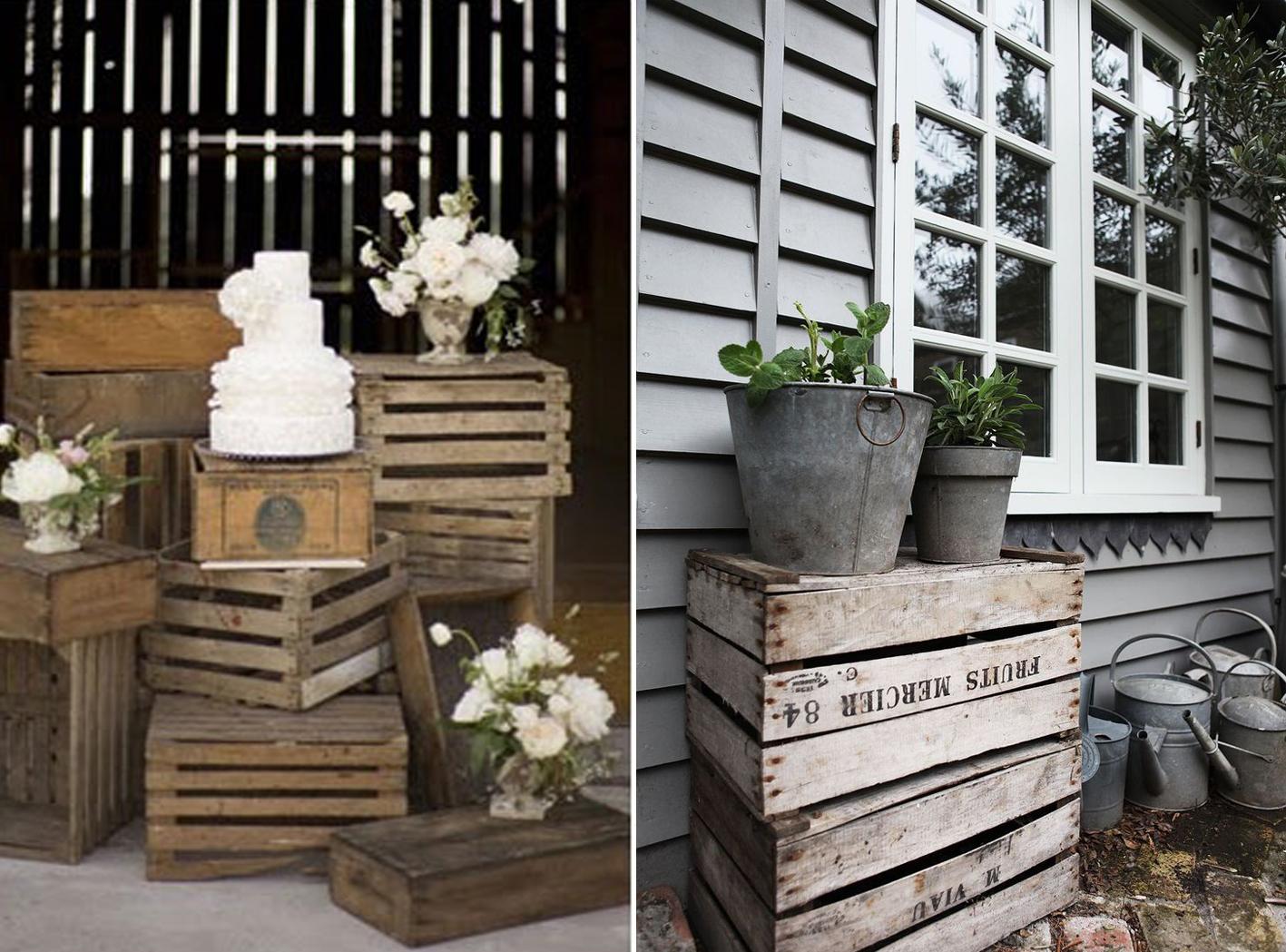 Idea and blog decorar con cajas de madera - Cajas de madera para decorar ...