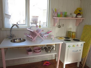 Aplaceimagined before and after for Playhouse kitchen ideas
