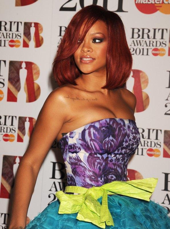 rihanna hair color 2011. rihanna 2011 red hair. rihanna