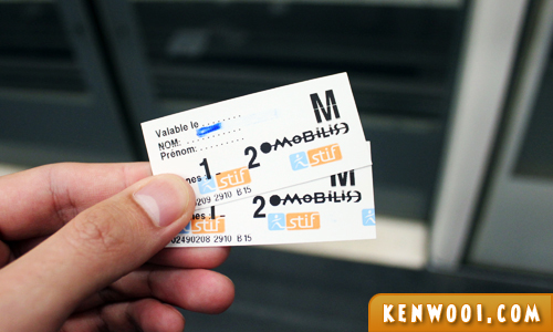 metro mobilis ticket paris