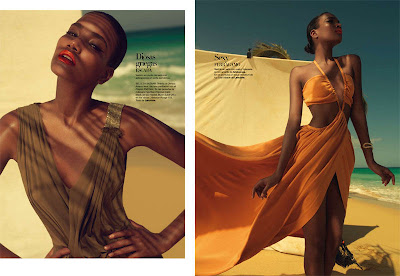 as2 Arlenis Sosa par Xevi Muntané pour Harper's Bazaar Spain