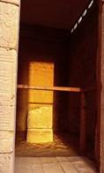 تعامد الشمس على معبد دير الحجر 9-3-2015م