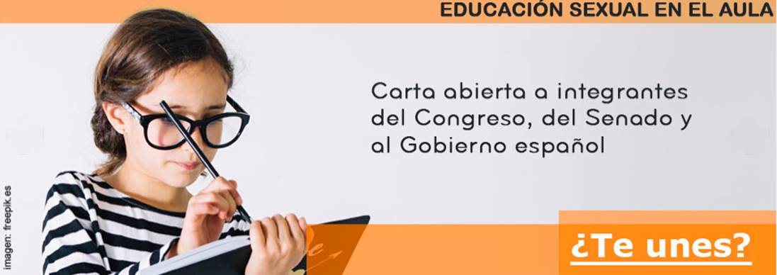 carta educación sexual
