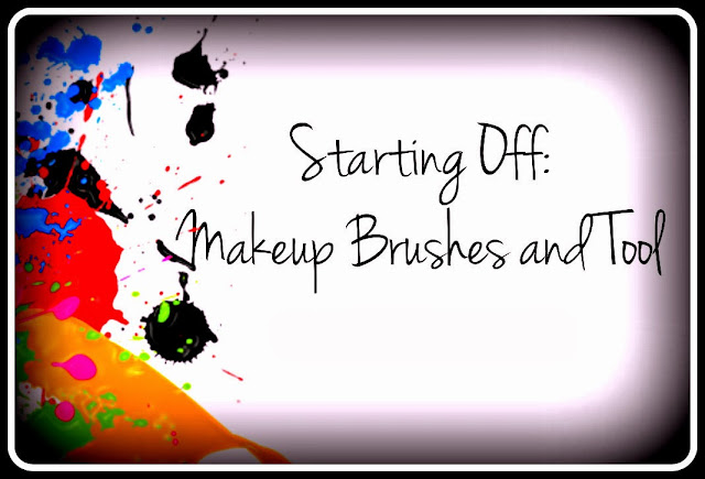 Starting Off-Makeup Brushes and Tool Cover Poster