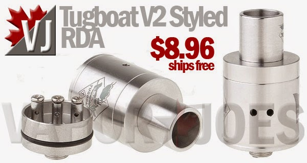Tugboat V2 Styled Rebuildable Dripping Atomizer with Adjustable Airflow