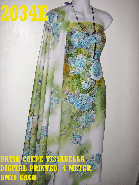 CTD 2034E: BATIK CREPE TISSABELLA DIGITAL PRINTED, EXCLUSIVE DESIGN, 4 METER