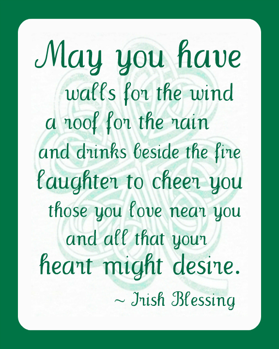 graphic regarding Printable Irish Blessing titled Irish Blessing Printable - Content Hour Tasks
