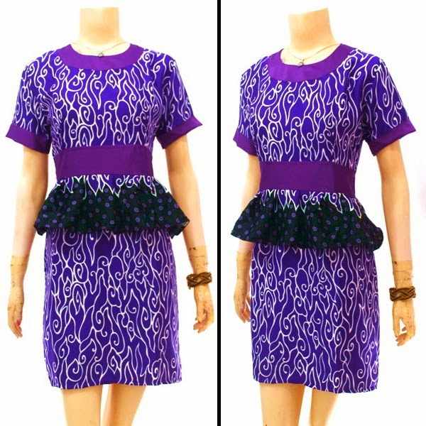 Model baju Batik Dress Terbaru 2015