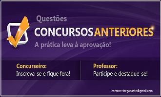 QUESTÕES DE CONCURSOS COMENTADAS