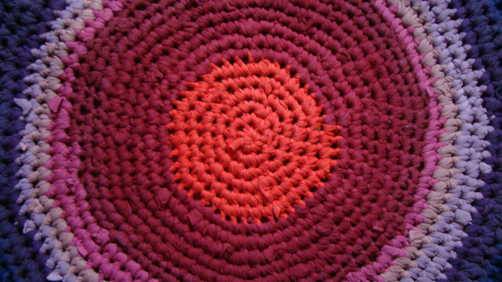Crocheting Rugs : Crocheted Rug!