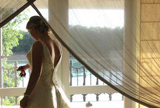 A Bride with her Custom Mickey Mouse Wedding Garter from Sugarplum Garters