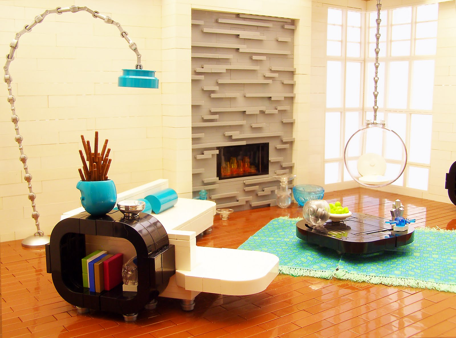 Stuff i like lego interior design retro for Modern apartment living room