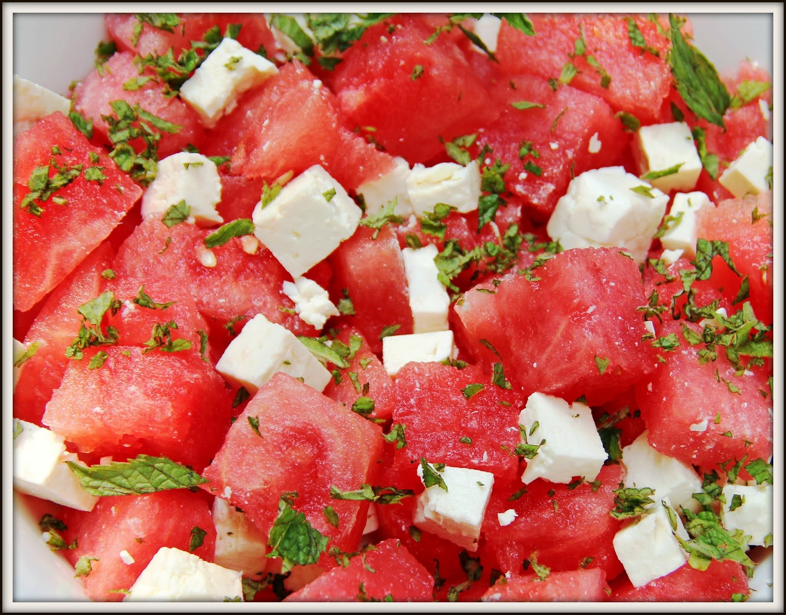 Watermelon, Mint & Feta Salad | chicago foodie girl