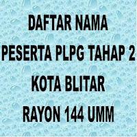 Daftar Peserta PLPG Kota Blitar Tahap 2 Rayon 144 UMM