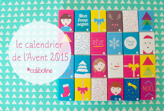 diy by calibotine le calendrier de l 39 avent 2015. Black Bedroom Furniture Sets. Home Design Ideas