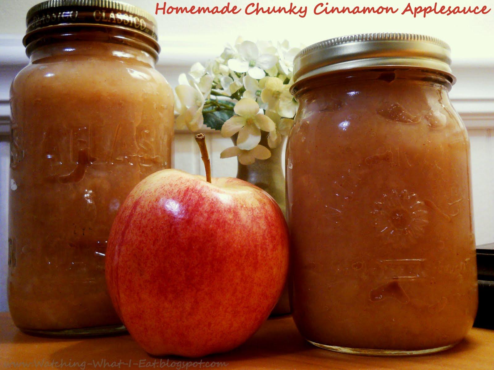 Watching What I Eat: Homemade Chunky Cinnamon Applesauce