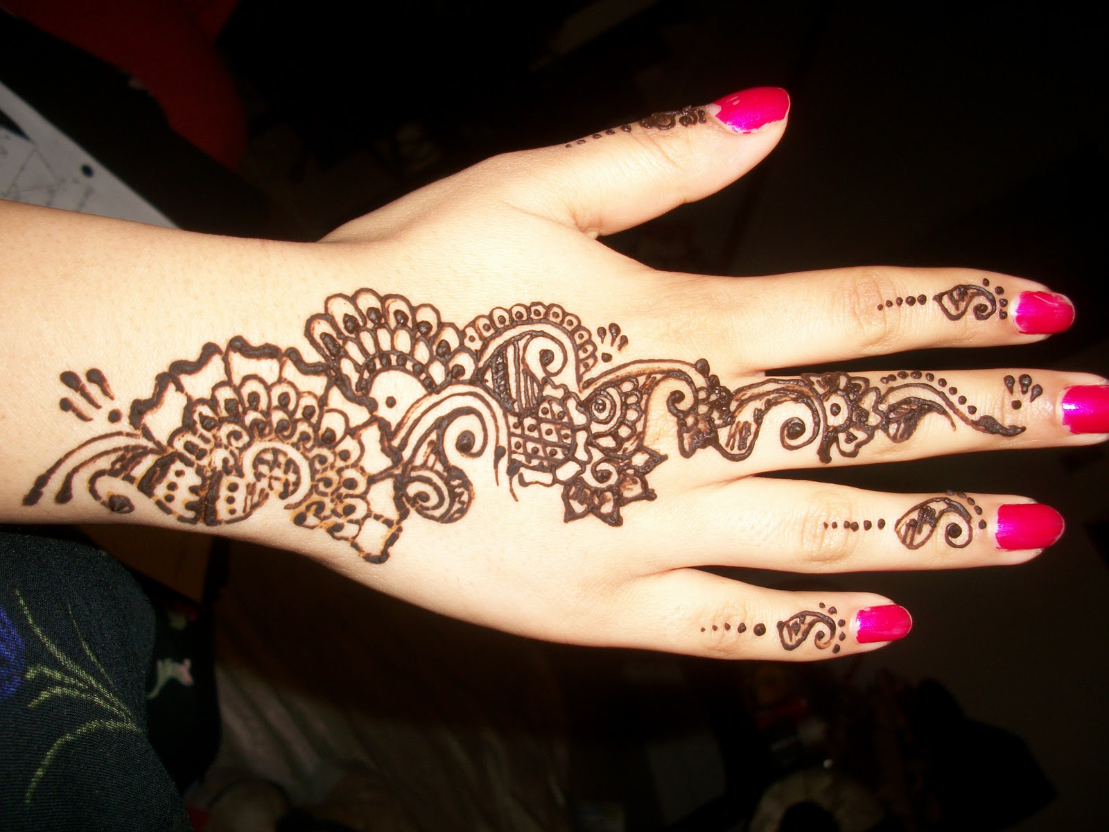 Mehndi Flower Designs For Hands : Henna designs for hand feet arabic beginners kids men : floral