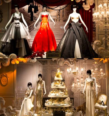 Christian Dior window display at Printemps, Paris