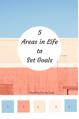 Areas in life to set goals in a series on goal setting