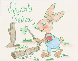 desenhos coloridos da semaninha do coelho trabalhador