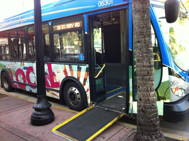 Acessibilidade do ônibus em Miami Beach