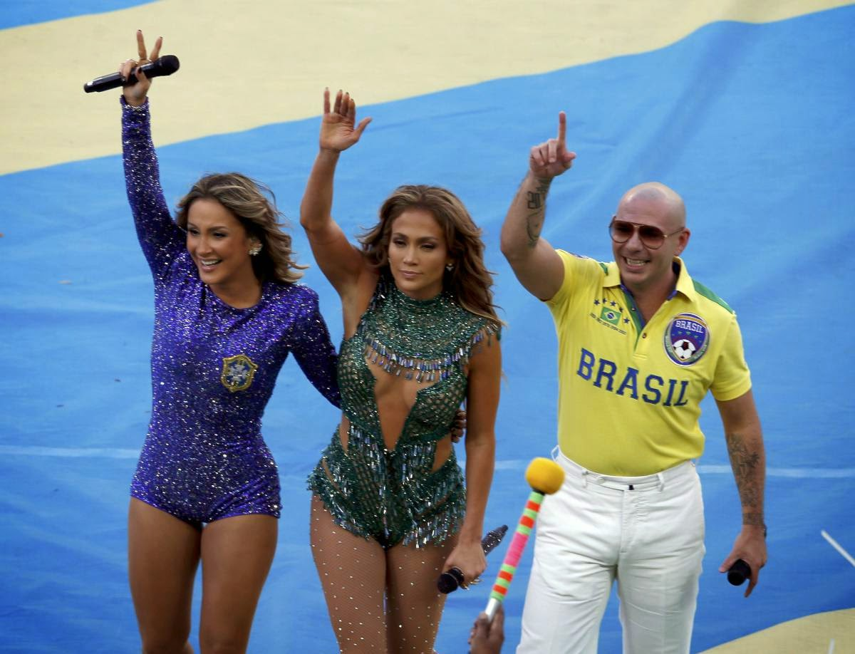 Jennifer Lopez and Pitbull FIFA World Cup Opening Ceremony Photos