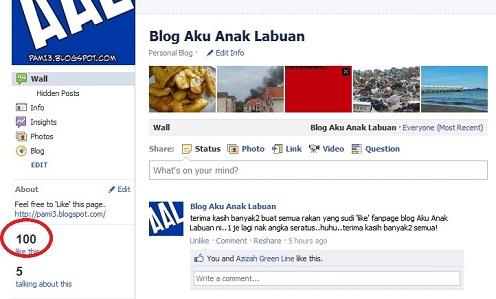 Facebook Fan Page Aku Anak Labuan
