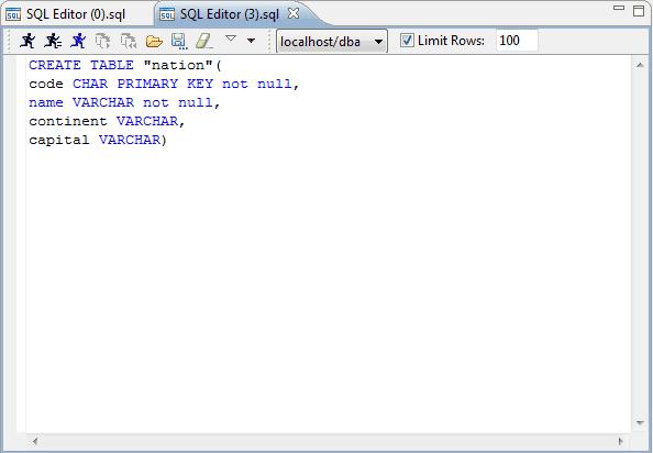 أوامر إنشاء أو تكوين جدول في قاعدة البيانات