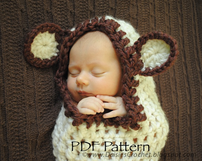 Crochet Pattern Baby Cocoon With Hood : Daisies Crochet: Crochet Baby Cocoon pdf pattern
