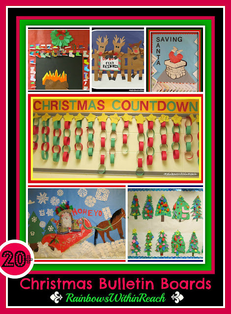 Christmas Bulletin Board RoundUP via RainbowsWithinReach