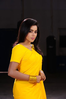 Poorna New Pictures in Yellow saree 013.jpg